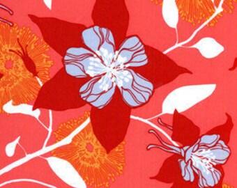 Free Spirit Fabric ~ Joel Dewberry ~ Deer Valley ~ Columbine Flowers in Persimmon jd21-persimmon by the fat quarter or half yard