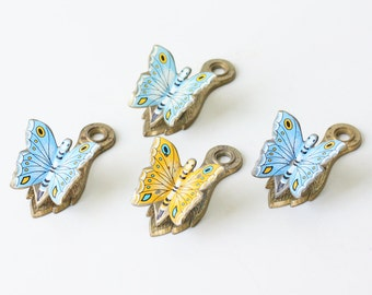 Vintage Butterfly Clips, Set of 4