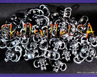 Villainous Skull Sliders - For Paracord & Jewelry Making