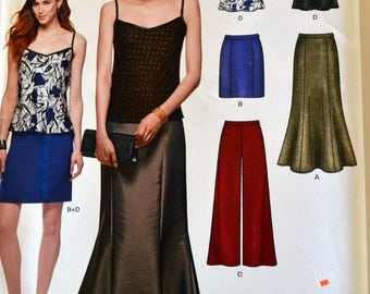 Sewing Pattern New Look 6328 Misses'  Floor Length Skirt, Pants and Camisole Size 8-18 Bust 31-44 inches Complete UNCUT