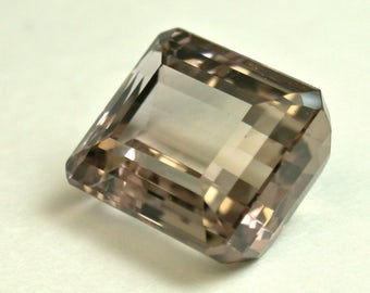 Vintage TOURMALINE Pink Beige Loose Faceted Emerald Cut Gemstone 7.23cts fg232