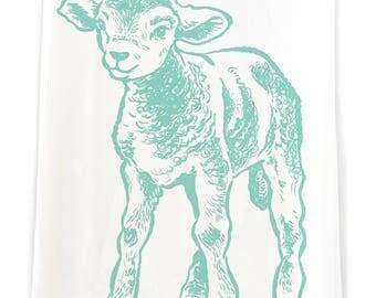Little Lamb Flour Sack Kitchen Towel
