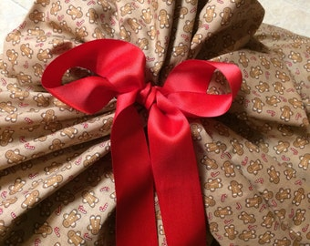 Extra Large Christmas Gift Bag 37 inches wide x 64 inches tall - Reusable Eco-Friendly Cotton Fabric