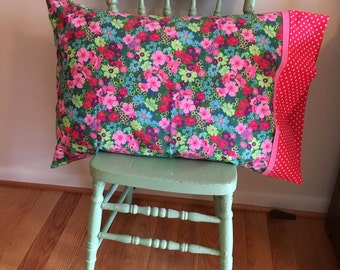 Handmade Floral Pillowcase