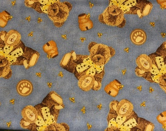 Boyds Bears teddy bear with bees and honey 4 Color choices 100% cotton fabric