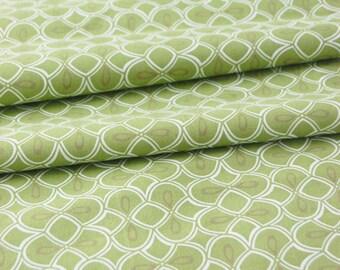 SALE organic cotton fabric by Daisy Janie - 1/2 YARD - Trellis Dawn