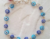 Light and Dark Blue Eyes Bracelet
