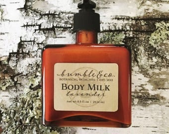 Natural Body Lotion | Vegan Body Milk | Lavender Moisturizing Lotion | Natural Skincare | Botanical Skincare  | Lotion for Men | Gift Idea