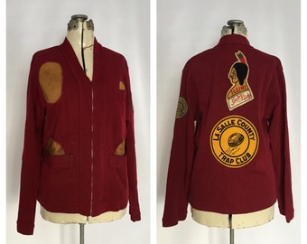 1940s Trap Shoot Jacket Wool With Patches Illini Trapshooting Indian