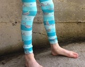 Leg and Arm Warmers - Narwhals on Stripes - Infant, Baby, Toddler, Kid, Tween Leggings - Fun Birthday or Baby Shower Gift for Boys or Girls