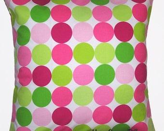 "Pillow, Throw Pillow, Pillow Cover, Modern Home Decor, Michael Miller Fabric Disco Dot 16x16"" - CLEARANCE - Ready to Ship"