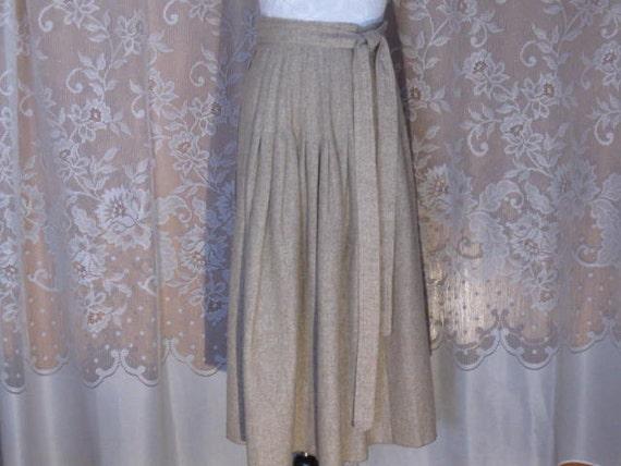Vintage Brown Tweed Wrap skirt sz 4