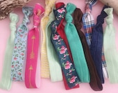 Grab Bag Hair Ties, Lularoe Consultant Thank You, No Snag Bulk Pony Tail Holders, Promotional Gifts, Yoga Hair Ties, Surprise Bag hair ties