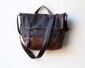 waxed canvas bag - 1909 MESSENGER BAG - cross body messenger bag - canvas messenger bag - laptop case - unisex - select your size