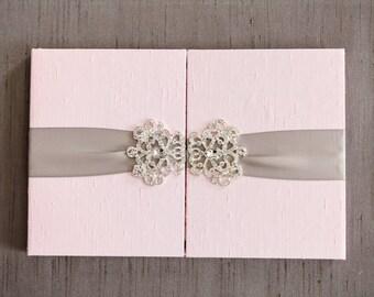 stephanies royal silk folio wedding invitation sample - Royal Wedding Invitation