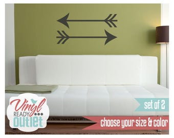 Large Arrow Tribal Vinyl Wall Decals- Set of 2 - Pick your Size & Color!