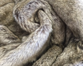 Lamington - quality short style soft frosted synthetic fur fabric - Long HALF