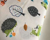 Forest Fellows fabric, Forest Fellows 2, Animal fabric, Kids room decor, Kids fabric, Whimsical, Forest Friends in Wild, Choose the cut