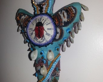 Beaded Spirit Doll, Art Doll,