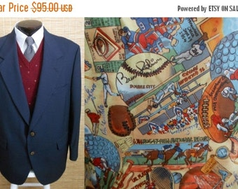 MOVING SALE Vintage 90s Men's PALM Beach Sport Coat, 1990s Blazer of Champions, Size 44R 44 Regular