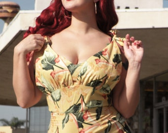 Tropical Romper Rockabilly Style