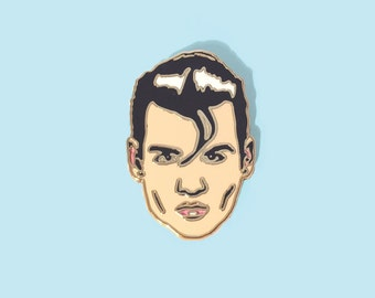 Lapel Pin Johnny Depp as Wade Walker in 80's classic Cry Baby