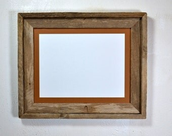 11x14 earth friendly barnwood picture frame with mat for 8x10 or 8x12 or 9x12