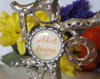 ONE 'Orange Wildest Dreams' Bottle Cap Charm Keychain