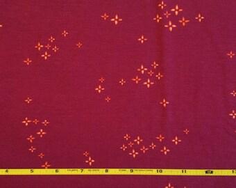 NEW Art Gallery Twinklestar Berry on cotton Lycra  knit fabric 1 yard.