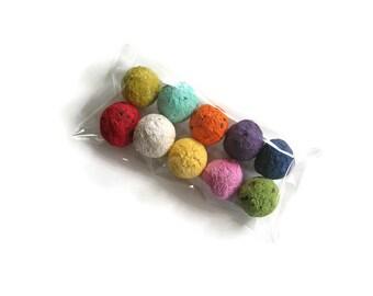 Wildflower Seed Bombs in rainbow assortment - Novelty gift - Plantable paper balls for gardener, teacher, stocking stuffer, hostess gift