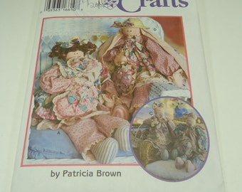 "Simplicity Crafts 29"" Stuffed Bear, Doll, Bunny, Cat And Clothes Pattern 9412 By Patricia Brown"