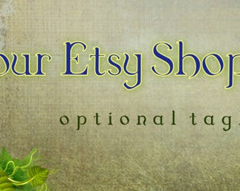 Magical Book Premade Etsy Cover Photo, Banner and You Choose Avatar