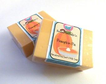 Pumpkin Pie Goats Milk Soap Handmade GIANT Bar SLS Detergent Free