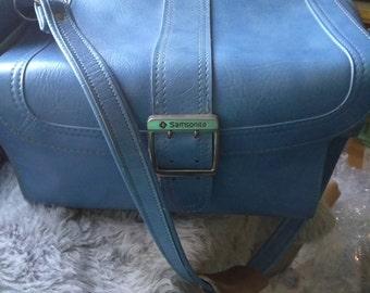 Vintage Light Blue Sampsonite Scandia Carry On Travel Case