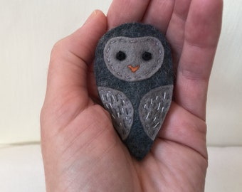 Forest Babies: Owlet Brooch