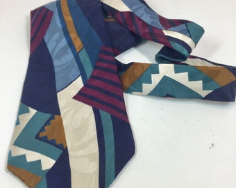 Vintage Oscar de la Renta 100% Silk Fabric Men's Tie