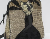 SMALL SHOULDER BAG  Fabric and Leather Ms Pickles