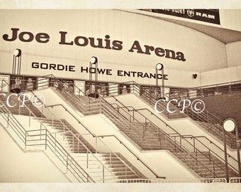 Joe Louis Arena, Detroit Artwork, Michigan Photo, Hockey Print, Sports Photography, Man Cave Decor, Boys Room, Gift For Him, Fine Art Photo
