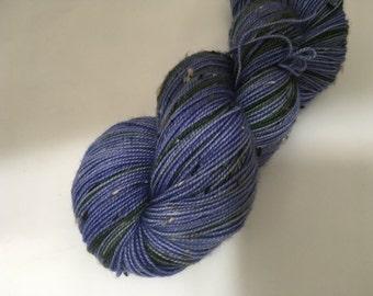 Spiritus Terra Yarn - Bluebells - Ready to Ship - Hand Dyed - Merino Tweed Wool Yarn - Fingering Weight