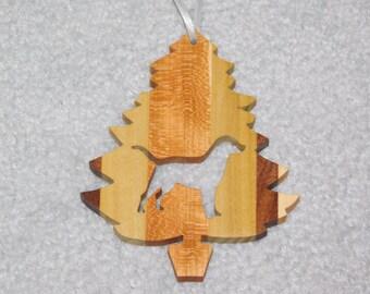 Wood Christmas Tree Dog Ornament -  Labrador