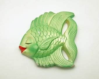 Vintage Fish Wall Plaque Tropical Fish Wall Hanging AS IS