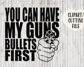 gun svg, second amendment svg, bullet svg, mens tshirt designs, vinyl decal svg, car decal svg, gun vector, vector art, gun cutting files