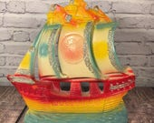 Chalkware Carnival Prize - Tall Ship - Pirate Ship - Nautical