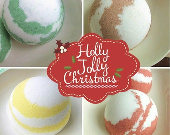 Gift Set. For Her. Gift Sets. Christmas Bath Bomb Gift Set, Gift For Her. Holiday Christmas Bath Bombs, Best Friend, Gift Wrapped. Mom SBG