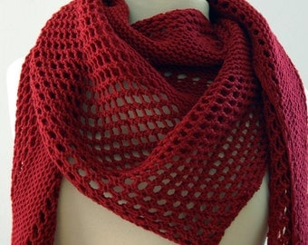 Red Triangle Scarf