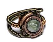CYBER WEEK SALE - Steampunk Jewelry on Warehouse 13 - Ring - Seraphinite- Seen on Tv