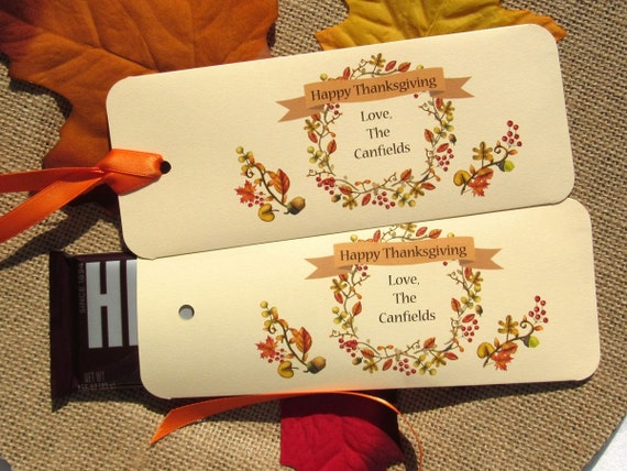 Thanksgiving  Favors | Thanksgiving | Holiday Favors | Thanksgiving Dinner | Dinner Favors | Hershey Bar Favor | Fall Favors | Party Favors