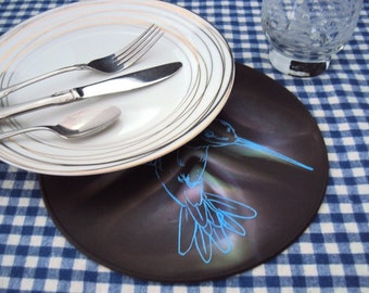 Multicolored Hummingbird Silicone Table Trivet Table Decor Kitchen Hot Pad Table Placemat