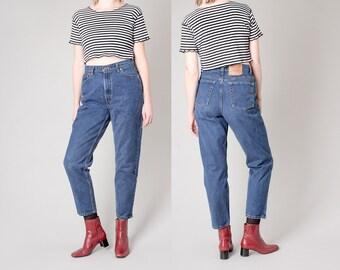 LEVIS 512 HIGH waist SKINNY jeans Mom Jeans vintage women 90s denim / 32 waist / size 12 14 / better Stay together