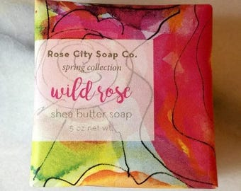 Wild Rose  Shea Butter Soap | Spring Soap Collection | Soaps For Men and Women